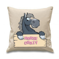 Horse Crazy Sign Sofa Cushion