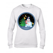 Christmas Snowman and Tree Women's Jumper \ Sweater