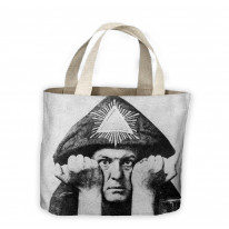 Aleister Crowley Hands Tote Shopping Bag For Life