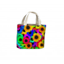 Multi Coloured Sunflower Tote Shopping Bag For Life
