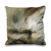 William Turner Snow Storm Faux Silk 45cm x 45cm Sofa Cushion