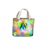Birthday Watercolour Balloons 18th Gift Celebration Tote Shopping Bag For Life