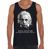 Albert Einstein Insanity Quote Men's Tank Vest Top