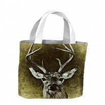 Shabby Chic Stag Tote Shopping Bag For Life