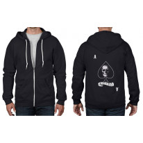 Ace Of Spades Skull Full Zip Hoodie