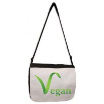Vegan Logo Laptop Messenger Bag
