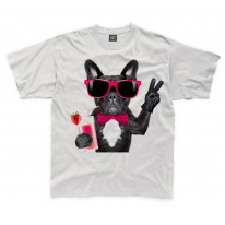 French Bulldog With Cocktail Smoothie Kids Childrens T-Shirt