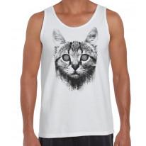 Hypnotized Kitten Cat Men's Tank Vest Top