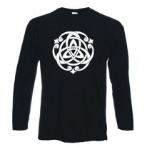 Celtic Knot White Print Long Sleeve T-Shirt