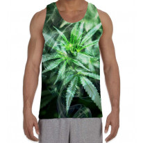 Cannabis Smoke Men's All Over Graphic Vest Tank Top