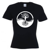 Yin & Yang Tree Of Life Women's T-Shirt