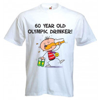 60 Year Old Olympic Drinker Mens 60th Birthday Men's T-Shirt