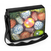 Christmas Baubles Laptop Messenger Bag