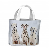 Three Dalmatian Dogs In The Snow Tote Shopping Bag For Life