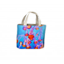 Pink Jellyfish Tote Shopping Bag For Life