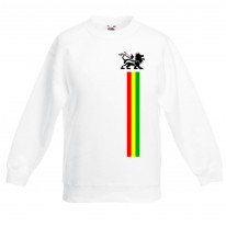 Lion of Judah Stripes Reggae Children's Unisex Sweatshirt Jumper