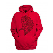 Tribal Horse Tattoo Men's Pouch Pocket Hoodie Hooded Sweatshirt