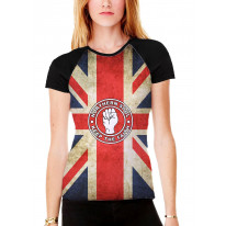 Northern Soul Keep The Faith Union Jack Women's All Over Graphic Contrast Baseball T Shirt