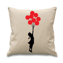 Banksy Balloon Girl Cushion