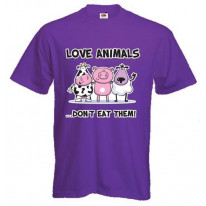 Love Animals Dont Eat Them Vegetarian T-Shirt