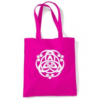 Celtic Knot White Print Shoulder Bag