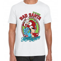 Bad Santa Happy Holidays Bah Humbug Christmas Men's T-Shirt