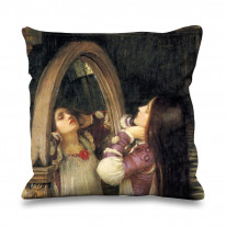 John William Waterhouse Mariana in the South Faux Silk 45cm x 45cm Sofa Cushion