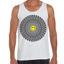 Acid Trip Smiley Face Men's Vest Tank Top