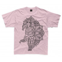 Tribal Horse Tattoo Large Print Kids Children's T-Shirt