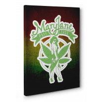 Mary Jane Puff Pass Cannabis Canvas Print Wall Art - Choice Of Sizes