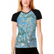 Van Gogh Almond Blossom Women's All Over Graphic Contrast Baseball T Shirt