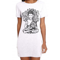 Buddha Design Large Print Women's T-Shirt Dress