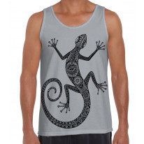 Tribal Lizard Tattoo Large Print Men's Vest Tank Top