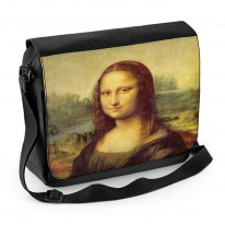 Leonardo da Vinci Mona Lisa Laptop Messenger Bag