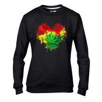 Rasta Heart Reggae Women's Sweatshirt Jumper