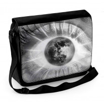 Abstract Eye with Moon Laptop Messenger Bag