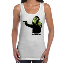 Banksy Gun Monkey Women's Tank Vest Top