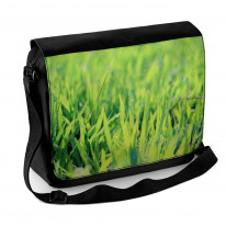 Blades of Grass with Dew Laptop Messenger Bag