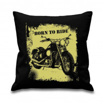Born to Ride Printed Scatter Cushion