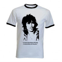 Keith Richards Quote Contrast Ringer T-Shirt