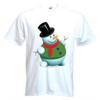 Snowman Men's Christmas T-Shirt