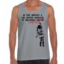 Banksy If You Repeat A Lie Often Enough It Becomes Politics Men's Tank Vest Top