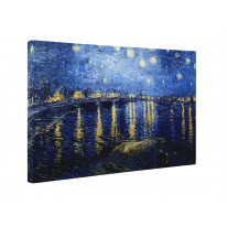Van Gogh Starry Night Over The Rhone River Box Canvas Print Wall Art - Choice of Sizes