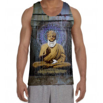Banksy Injured Buddha Men's All Over Print Graphic Vest Tank Top