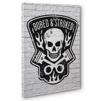 Bored and Stroked Box Canvas Print Wall Art - Choice of Sizes