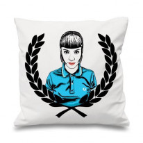 Skinhead Girl Laurel Leaf Cushion