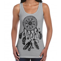 Dreamcatcher Native American Hipster Large Print Women's Vest Tank Top