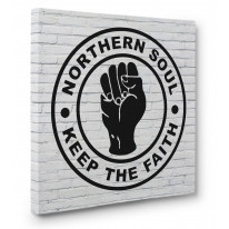 Northern Soul Keep The Faith Box Canvas Print Wall Art - Choice of Sizes