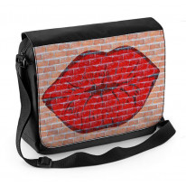 Lips Graffiti Laptop Messenger Bag