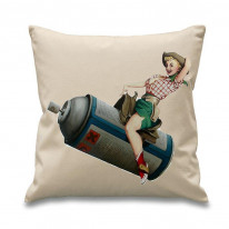Banksy Aerosol Cowgirl Cushion